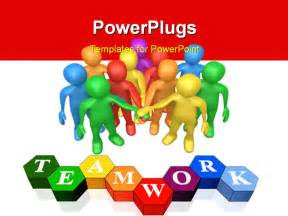 free teamwork powerpoint templates powerpoint template a number of with the word