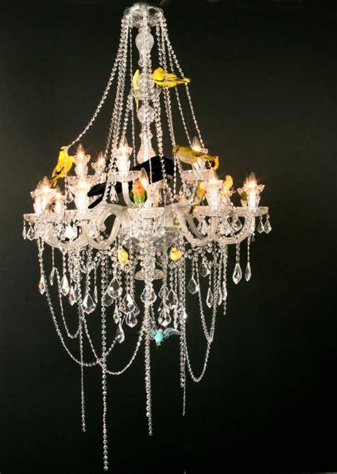 Bird Chandelier Lighting Modern Home Lighting Fixtures With Birds Decorations Design And Craft Ideas