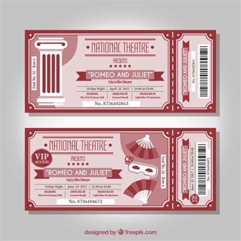 www entradas entradas vintage de teatro rojas descargar vectores gratis