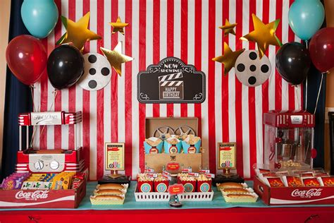 cute movie themes a hollywood movie themed party everyday party magazine
