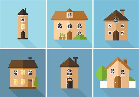 vector houses   vectors clipart graphics