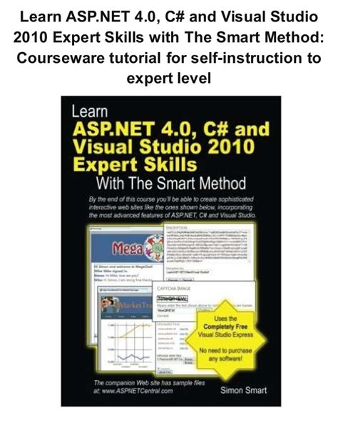 tutorial visual studio 2010 c pdf learn asp net 4 0 c and visual studio 2010 expert skills