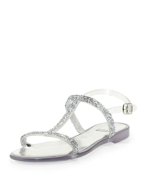 clear jelly sandals stuart weitzman teezer jelly sandal in transparent