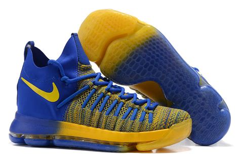 blue and yellow basketball shoes adaptable nike zoom kd 9 elite royal blue yellow gradient