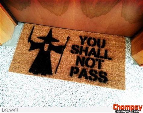 Lord Of The Rings Door Mat by Lord Of The Rings Inspired You Shall Not Pass Door Mat