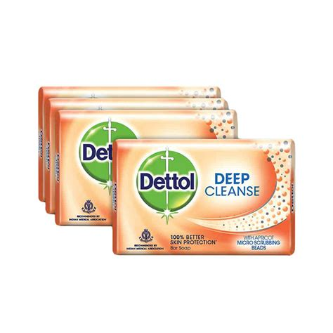 Soap And 3 And 1 Detox Wash by Dettol Cleanse Soap 75 G Buy 3 Get 1 Free