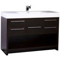 bathroom vanities 47 quot modern bathroom vanity set espresso finish tn l1200 wg conceptbaths com
