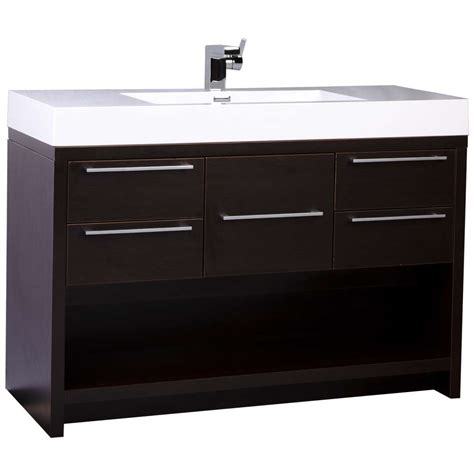 bathroom vanity 47 quot modern bathroom vanity set espresso finish tn l1200 wg