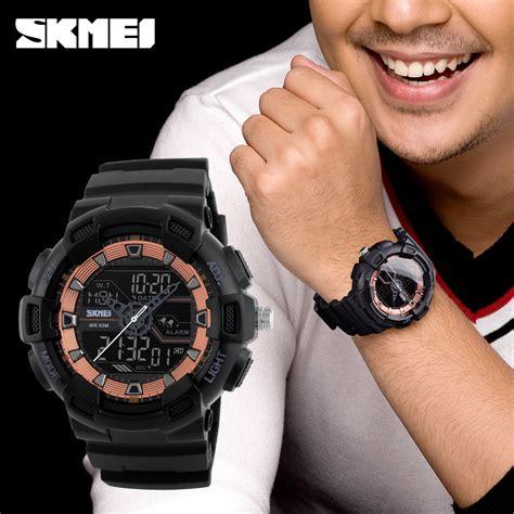 Jam Tangan Cowok Pria Kademan Kd016 Black Rosegold Original skmei jam tangan digital analog pria 1189 black jakartanotebook