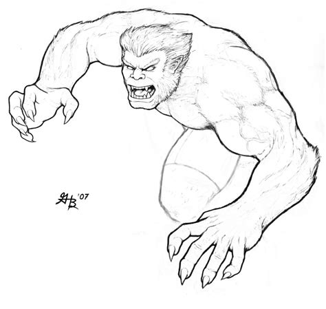 marvel beast coloring pages x men beast coloring pages