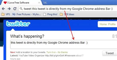 Search From Chrome Address Bar How To Tweet Directly From Chrome Address Bar