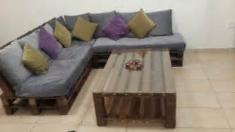 Awesome Couches diy pallet l shaped sofa coffee table for living room