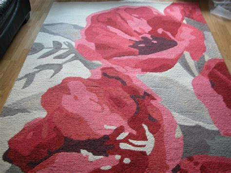 next carpets and rugs next tulip bouquet grey floral shabby chic vintage wool rug 100x150cm ebay