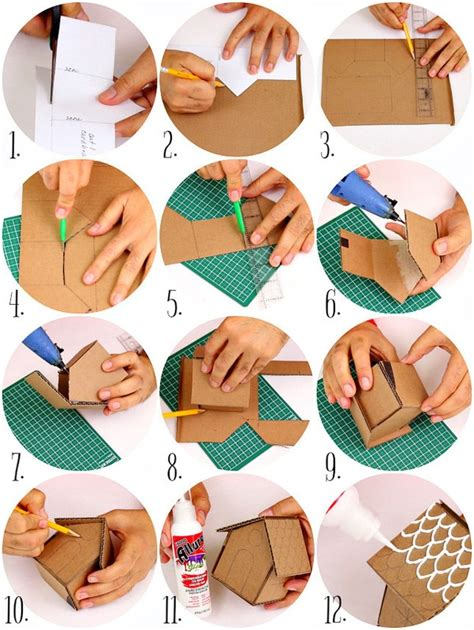 How To Make Paper Gingerbread - cardboard bread house ornaments 183 how to make an
