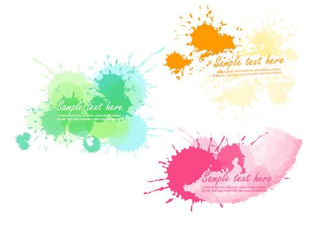 bright paint splatter vector banner pack free vector stock graphics images