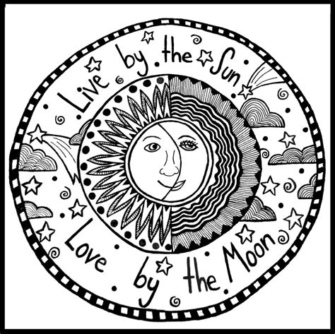 free coloring pages sun and moon 16 best photos of sun and moon coloring pages for adults