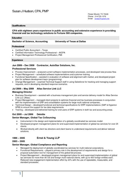 cpa sle resume cover letter tax accountant sle 28 images accounting