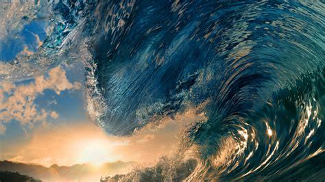 water waves nature blue sea sunset sunlight