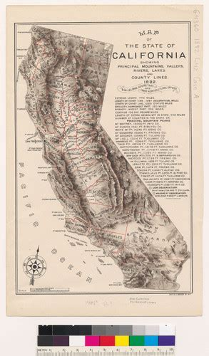 california map rivers and mountains calisphere map of the state of california showing