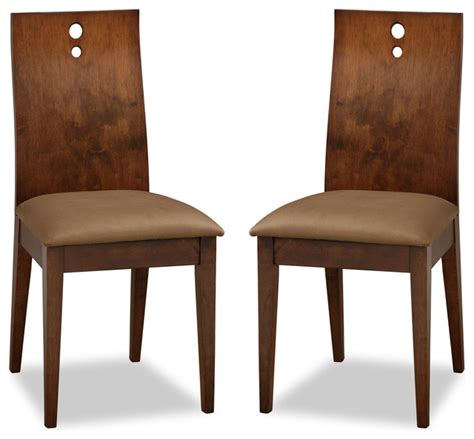 Fabric Upholstered Dining Chairs Brown Fabric Upholstered Cocoa Dining Chair