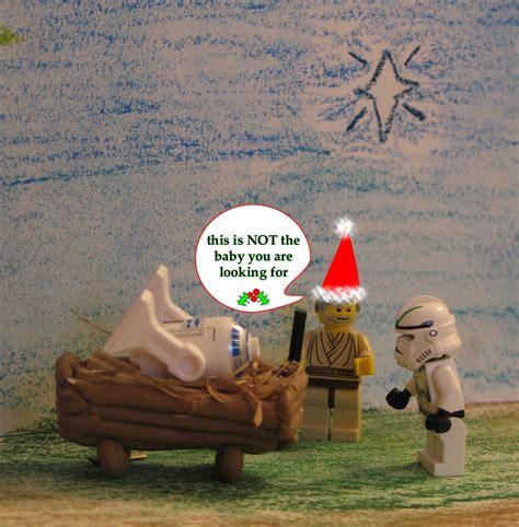 lego star wars faux nativity scene christmas card  ta flickr