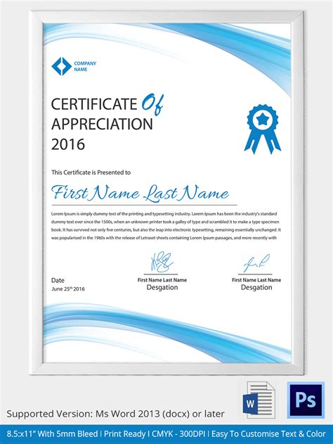 free printable certificate templates certificate completion