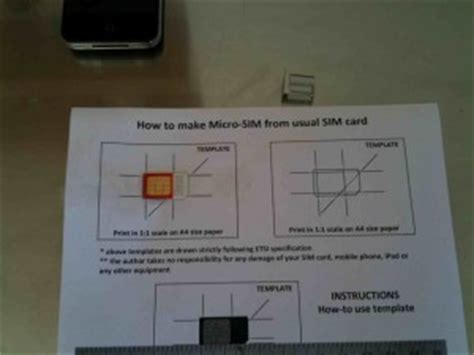 sim card adapter template a4 paper how to and template for an iphone microsim