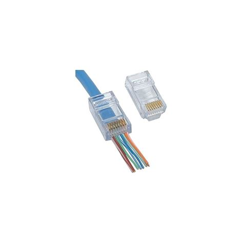Cat 6 Rj 45 Connector By push through rj45 cat6 connector from proception