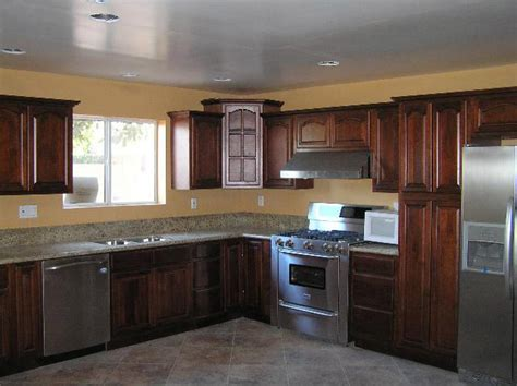 cherry walnut kitchen cabinets home design traditional