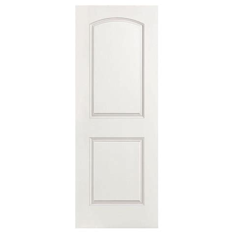 Two Panel Interior Door Masonite 36 In X 80 In Smooth 2 Panel Top Hollow Primed Composite Interior