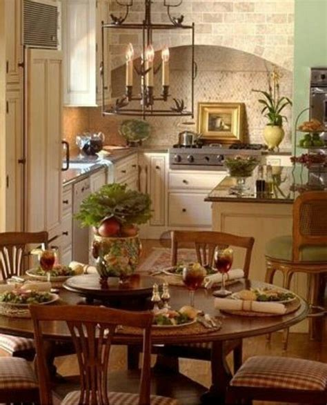 pin  tracy helwig  kitchens french country dining