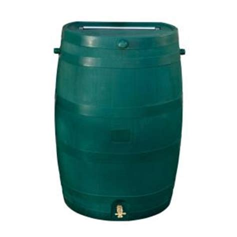 home depot barrel fan 50 gal barrel with green brass spigot 55100009004281