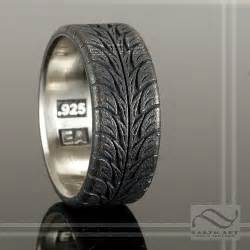 tire wedding rings low profite tire tread ring sterling silver a nicely deta flickr photo