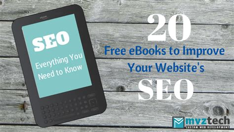 20 free seo ebooks to mvz tech resources resources from all the web to
