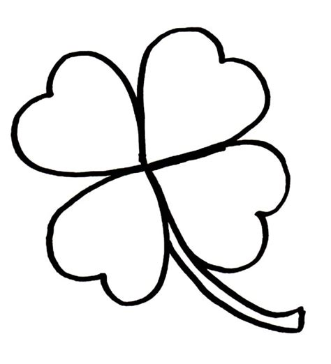four leaf coloring page 4 leaf clover coloring page coloring home