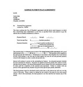 payment plan agreement template free 9 payment agreement templates free sle exle