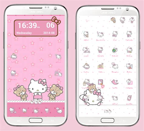 theme hello kitty for wechat kitty fang hello kitty tiny chum pink go launcher