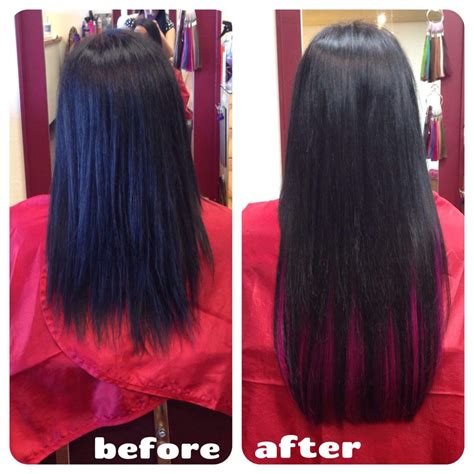 fusion hair extensions before and after before and after 5 bundles of 18 quot keratin fusion hair