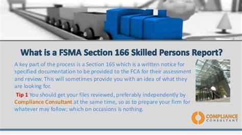 section 166 notice fsma s166 guide for senior management