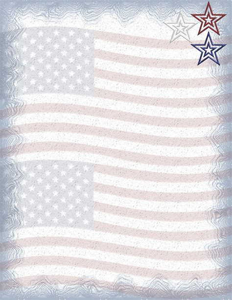 printable flag stationery patriotic stationery themes page 2
