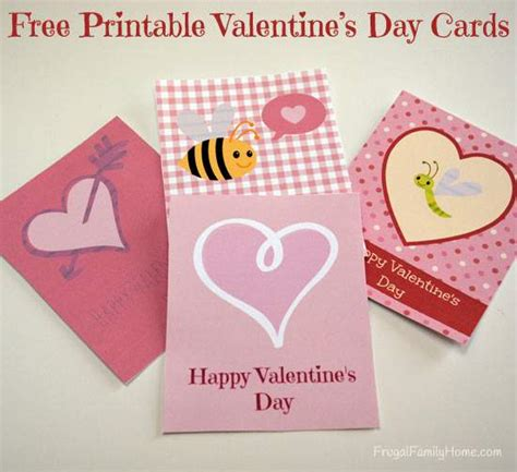 make your own valentines card for free free printable s day cards frugal family home