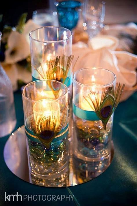 17 Best images about peacock centerpieces on Pinterest