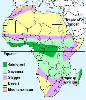 Climate Map Of Africa by African Biomes Research