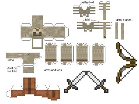 Minecraft Papercraft Skeleton - minecraft papercraft mutant skeleton www pixshark