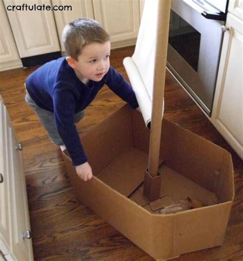 cardboard boat craft 81 best box ideas for preschool images on pinterest