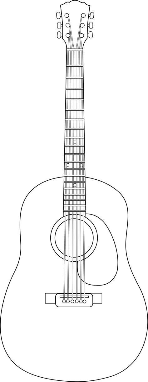 acoustic guitar template best photos of acoustic guitar outline guitar drawings