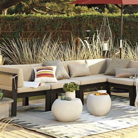 outdoor wood sectional wood slat sectional outdoor cushions modern outdoor