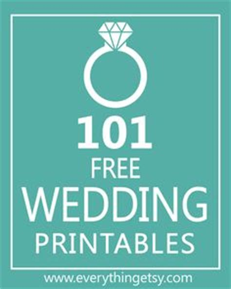 101 Wedding Printables Free Know Someone Getting | 1000 images about free wedding printable s on pinterest