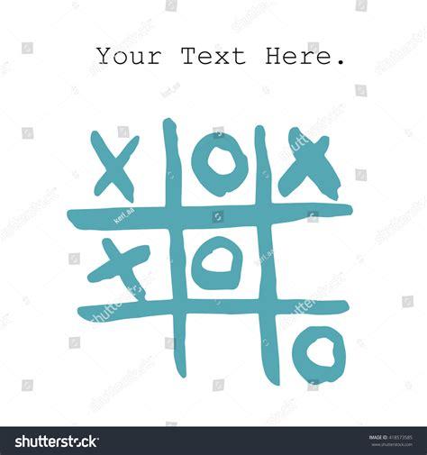 doodle tic tac toe doodle tic tac toe xo stock vector 418573585