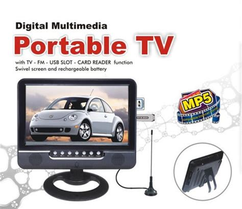 Tv Mobil 7 Inch 7 inch portable tv battery built in 7inch portable small